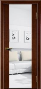 Двери ЛайнДор Камелия К американский орех тон 19 стекло Зеркало