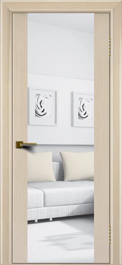 Двери ЛайнДор Камелия К беленый дуб тон 16 стекло Зеркало