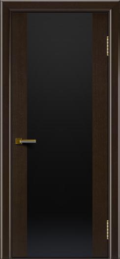 Двери ЛайнДор Камелия К венге тон 12 стекло Черное