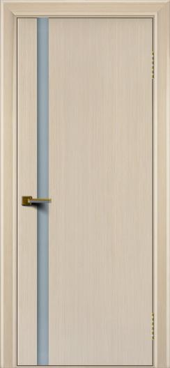 Двери ЛайнДор Камелия К 1 беленый дуб тон 16 стекло Белое