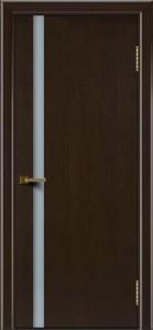 Двери ЛайнДор Камелия К 1 венге тон 12 стекло Белое