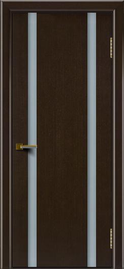 Двери ЛайнДор Камелия К 2 венге тон 12 стекло Белое