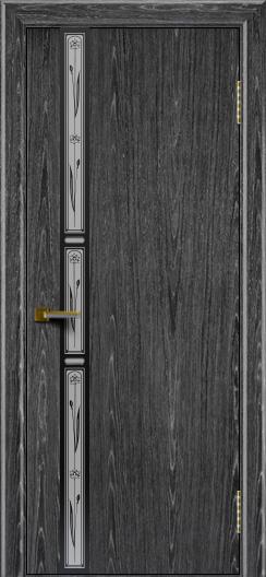 Двери ЛайнДор Камелия К 3 абрикос тон 22 стекло Нарцисс