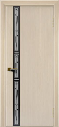 Двери ЛайнДор Камелия К 3 беленый дуб тон 16 стекло Нарцисс