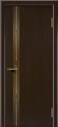 Двери ЛайнДор Камелия К 3 венге тон 12 стекло Звезда