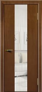 Двери ЛайнДор Камелия К 4 американский орех тон 23 стекло Водопад