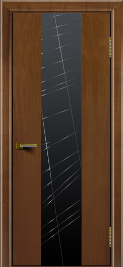 Двери ЛайнДор Камелия К 4 американский орех тон 23 стекло Графит