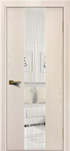 Двери ЛайнДор Камелия К 4 жемчуг тон 27 стекло Водопад