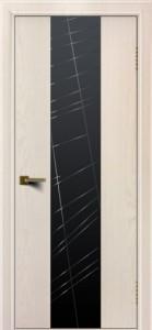 Двери ЛайнДор Камелия К 4 жемчуг тон 27 стекло Графит