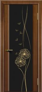Двери ЛайнДор Камелия американский орех тон 23 стекло Одуванчик