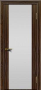 Двери ЛайнДор Камелия американский орех тон 25 стекло Белое