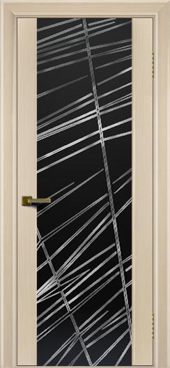 Двери ЛайнДор Камелия беленый дуб тон 16 стекло Графит