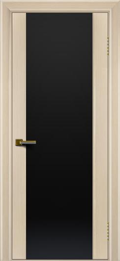 Двери ЛайнДор Камелия беленый дуб тон 16 стекло Черное