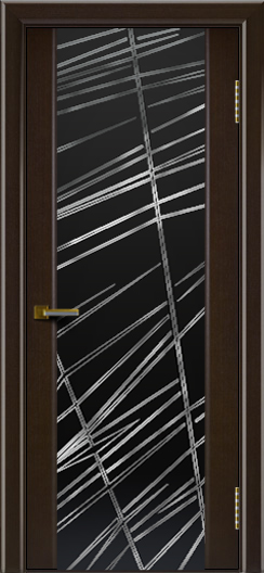 Двери ЛайнДор Камелия венге тон 12 стекло Графит