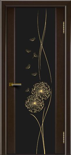 Двери ЛайнДор Камелия венге тон 12 стекло Одуванчик