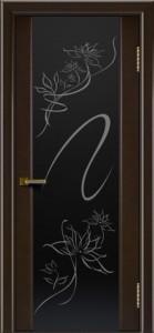 Двери ЛайнДор Камелия венге тон 12 стекло рис. Камелия