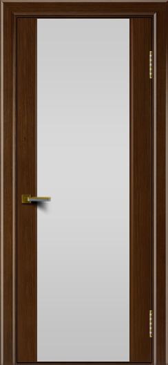 Двери ЛайнДор Камелия орех тон 2 стекло Белое