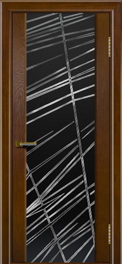 Двери ЛайнДор Камелия тон 30 стекло Графит