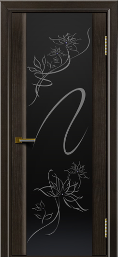 Двери ЛайнДор Камелия тон 31 стекло рис. Камелия
