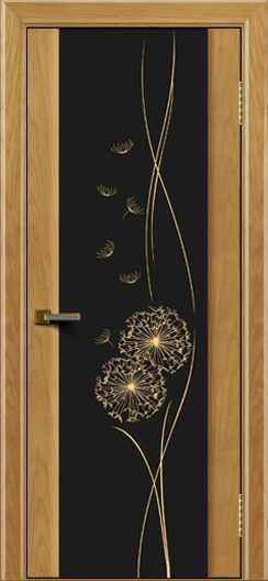Двери ЛайнДор Камелия ясень тон 24 стекло Одуванчик