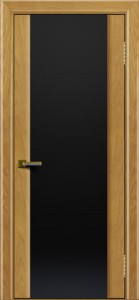 Двери ЛайнДор Камелия ясень тон 24 стекло Черное