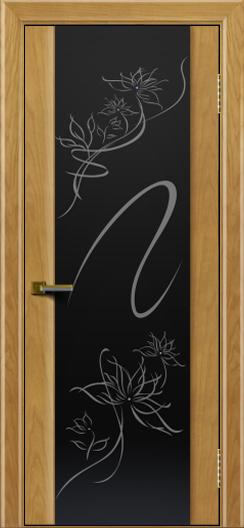 Двери ЛайнДор Камелия ясень тон 24 стекло рис. Камелия