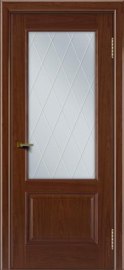 Двери ЛайнДор Кантри вишня тон 6 стекло Лондон