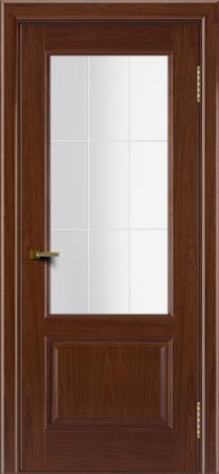 Двери ЛайнДор Кантри вишня тон 6 стекло Решетка