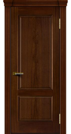 Двери ЛайнДор Кантри красное дерево тон 10 глухая капитель 3 эл.