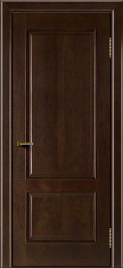 Двери ЛайнДор Кантри красное дерево тон 18 глухая