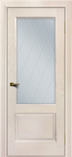 Двери ЛайнДор Кантри ясень жемчуг тон 27 стекло Лондон