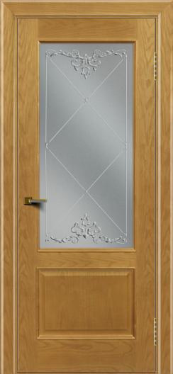 Двери ЛайнДор Кантри ясень тон 24 стекло Узор