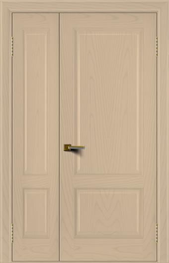 Двери ЛайнДор Кантри ясень тон 3 полуторная глухая