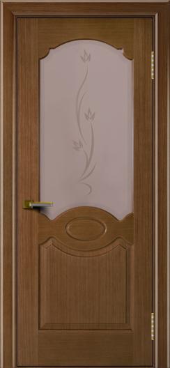 Двери ЛайнДор Карамелька дуб тон 5 стекло Алина