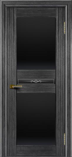 Двери ЛайнДор Кристина абрикос тон 22 стекло Черное полное