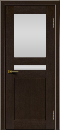 Двери ЛайнДор Кристина венге тон 12 стекло Белое вехнее