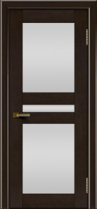 Двери ЛайнДор Кристина венге тон 12 стекло Белое полное