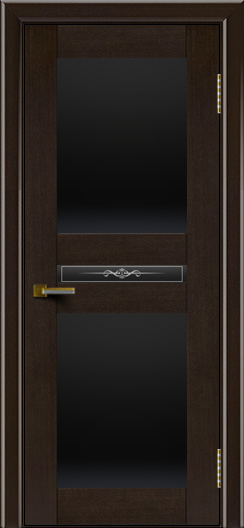 Двери ЛайнДор Кристина венге тон 12 стекло Черное полное