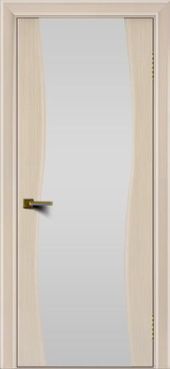 Двери ЛайнДор Лайма беленый дуб тон 16 стекло Белое