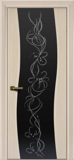Двери ЛайнДор Лайма беленый дуб тон 16 стекло Фантазия