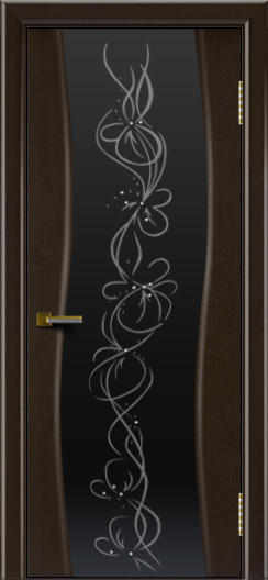 Двери ЛайнДор Лайма венге тон 12 стекло Фантазия