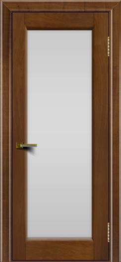 Двери ЛайнДор Мальта американский орех тон 23 стекло белое