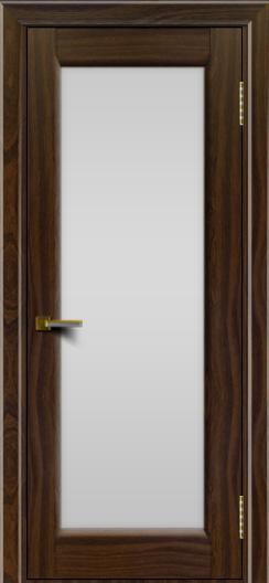 Двери ЛайнДор Мальта американский орех тон 25 стекло белое