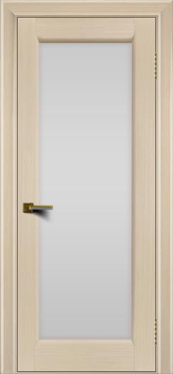 Двери ЛайнДор Мальта беленый дуб тон 16 стекло белое