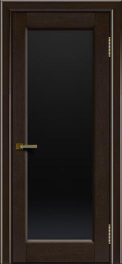 Двери ЛайнДор Мальта венге тон 12 стекло черное