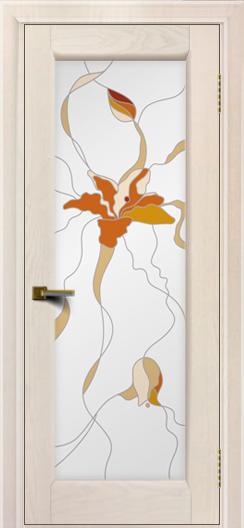 Двери ЛайнДор Мальта жемчуг тон 27 Витраж