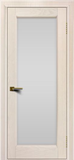 Двери ЛайнДор Мальта жемчуг тон 27 стекло белое