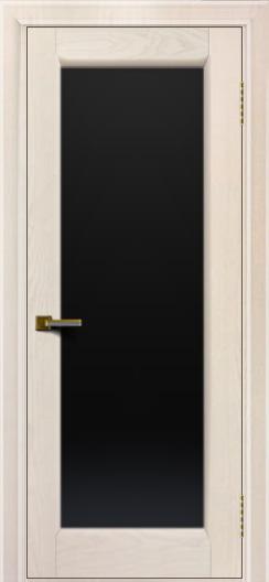 Двери ЛайнДор Мальта жемчуг тон 27 стекло черное