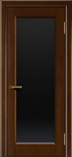 Двери ЛайнДор Мальта орех тон 2 стекло черное