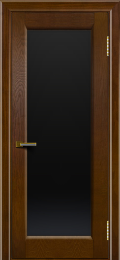Двери ЛайнДор Мальта тон 30 стекло черное